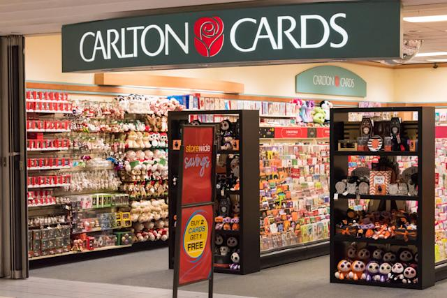 TORONTO, VILLA CLARA, CANADA - 2015/10/13: Carlton Cards gifts and greeting cards store in Toronto. Carlton Cards founded by Harry Harshman in 1920 is Canadas no. 1 greeting card company. (Photo by Roberto Machado Noa/LightRocket via Getty Images)