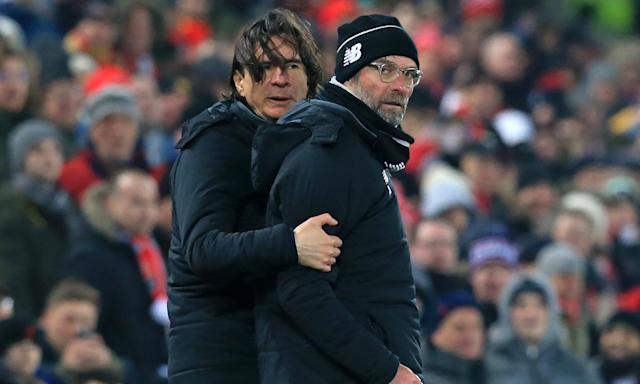 Zeljko Buvac and Jürgen Klopp on the touchline during Liverpool's game against Newcastle at Anfield last month.