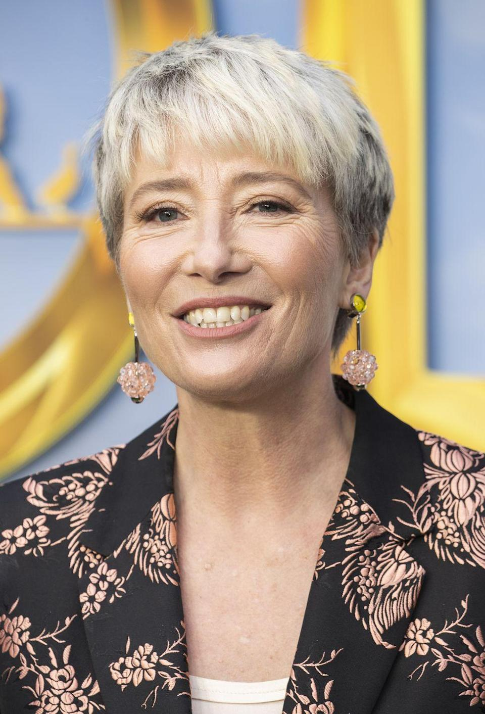 <p>Emma Thompson is officially the queen of the modern pixie crop haircut.</p>