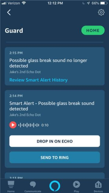 amazon alexa guard rollout screen 2