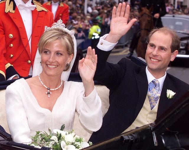 Sophie and Edward on their wedding day