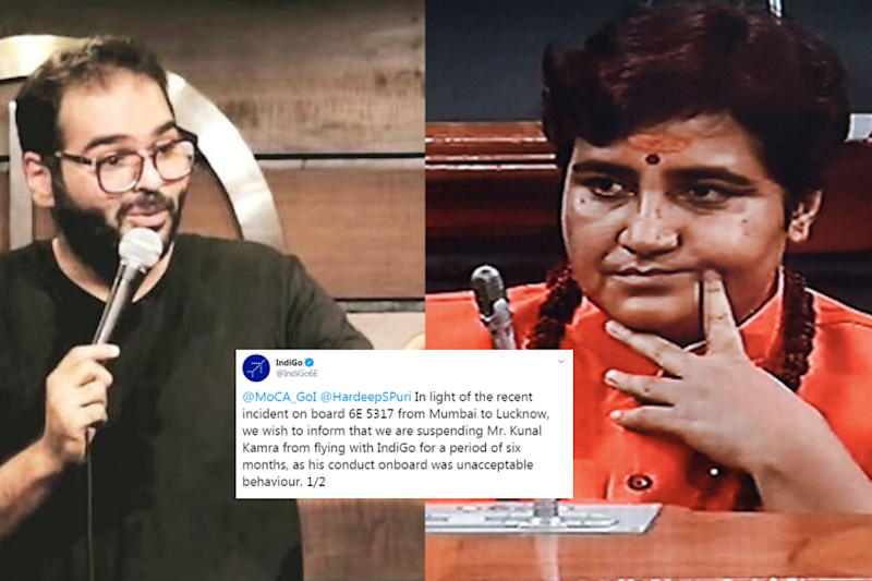 'Why Not Pragya Thakur?' Questions Twitter After IndiGo, Air India, and SpiceJet Ban Kunal Kamra