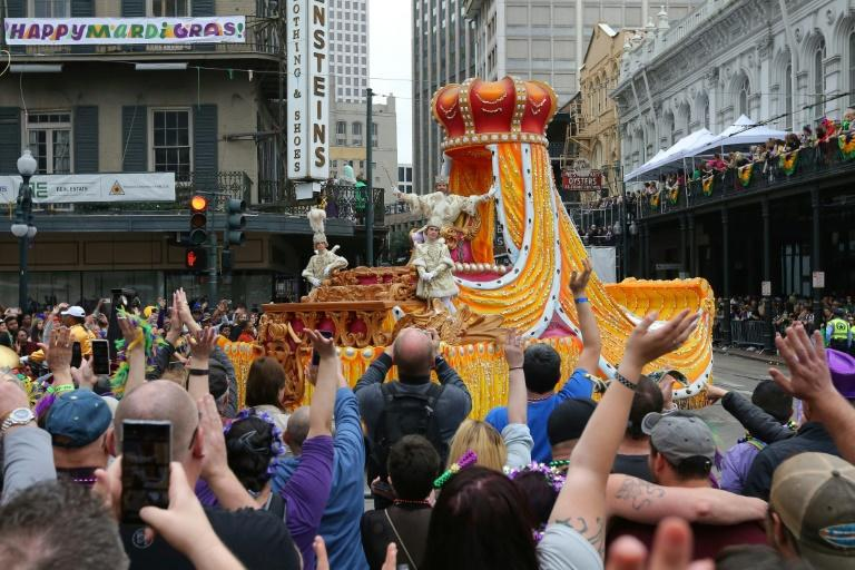Revelers packed the streets during Mardi Gras in New Orleans