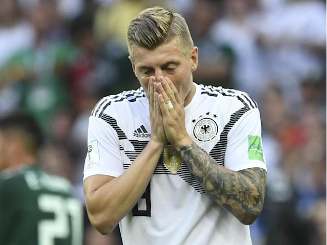 Germany midfielder Toni Kroos says the holders must win their next two World Cup matches against Sweden and South Korea after losing their opening game to Mexico in Moscow (AFP Photo/Francisco LEONG)