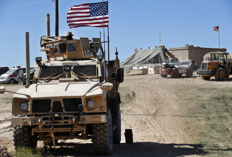US says has begun withdrawing equipment, not troops, from Syria