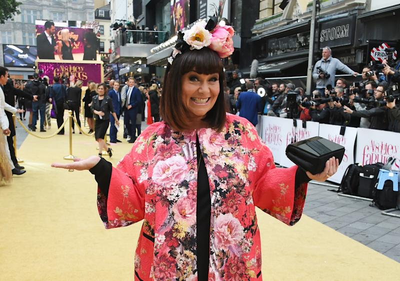 "LONDON, ENGLAND - JUNE 29: Dawn French attends the World Premiere of ""Absolutely Fabulous: The Movie"" at Odeon Leicester Square on June 29, 2016 in London, England. (Photo by David M. Benett/Dave Benett/WireImage)"