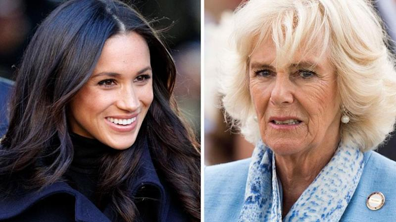 Meghan and Camilla met at Clarence House for a long chat. Photo: Getty