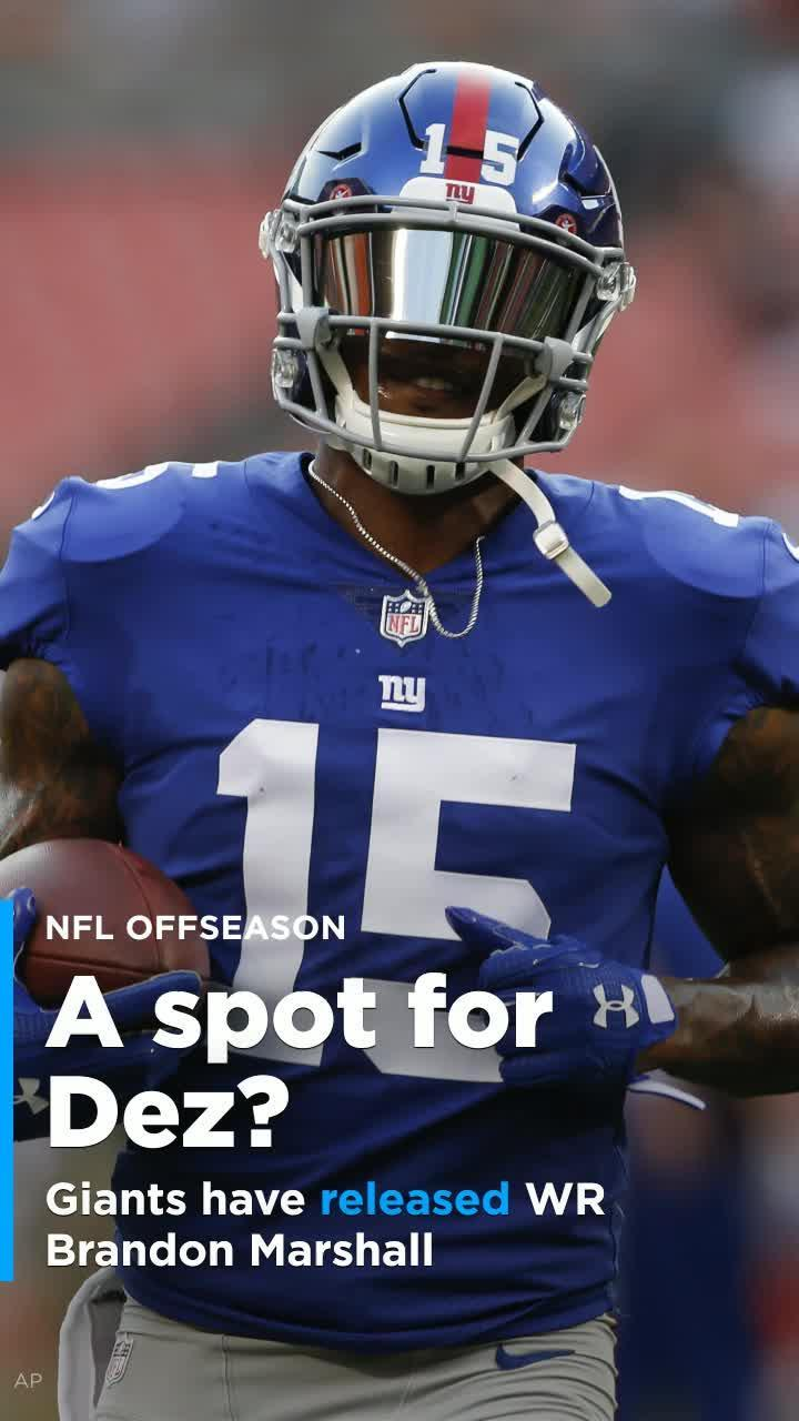 new arrival 295f0 fbe7c The Giants released Brandon Marshall, so the speculation about Dez Bryant  continues