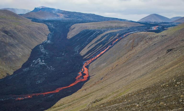 Iceland which is home to 32 active volcano systems and 400 glaciers (AFP/Jeremie RICHARD)