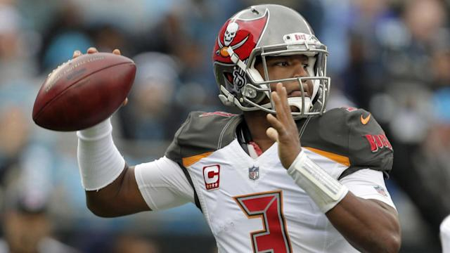 """Will you trust <a class=""""link rapid-noclick-resp"""" href=""""/nfl/players/28389/"""" data-ylk=""""slk:Jameis Winston"""">Jameis Winston</a> in the fantasy playoffs? (AP)"""