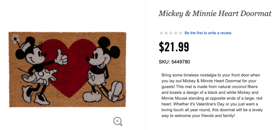 The unintentionally raunchy doormat is for sale at Hobby Lobby, a US store. Photo: TikTok.