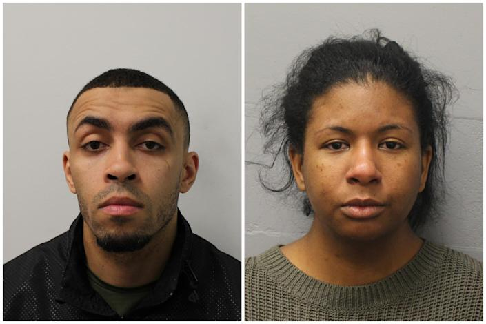 Christopher McDonald, left, and Aliysa Ellis, were sentenced on Monday. (PA Images/Met Police)