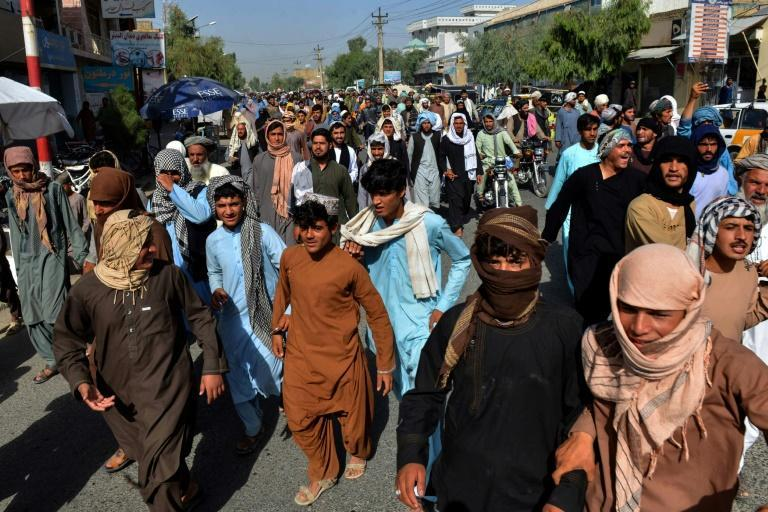 The Taliban have banned protests unless permission is given by the justice ministry (AFP/Javed TANVEER)