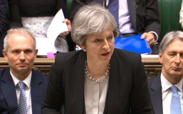 Theresa May in Prime Minister's Question time.