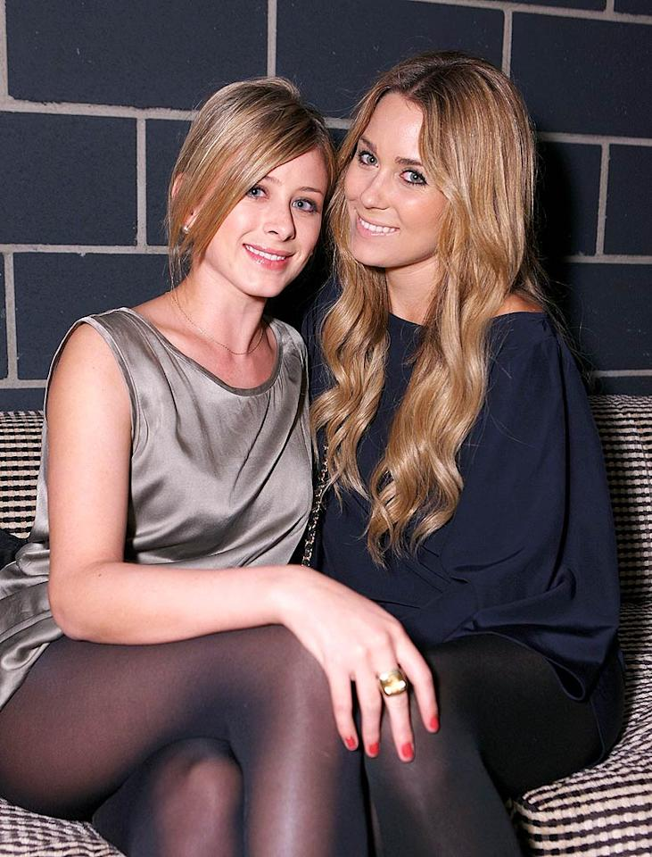 """Lauren """"Lo"""" Bosworth and Lauren """"LC"""" Conrad say """"cheese"""" at the Hornitos' Midnight in the Garden of Agave party in Los Angeles. Chris Weeks/<a href=""""http://www.wireimage.com"""" target=""""new"""">WireImage.com</a> - December 11, 2008"""