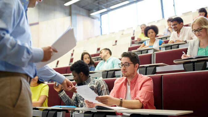 adult education students in classroom