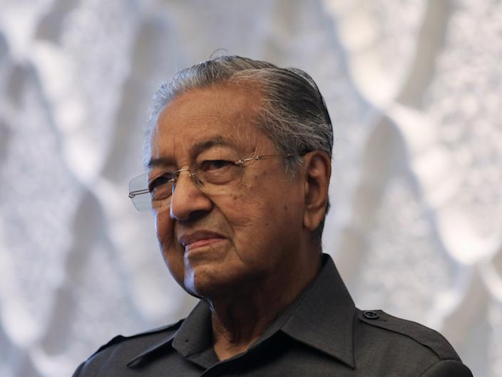<p>Malaysia's former Prime Minister Mahathir Mohamad during an interview with Reuters in Kuala Lumpur</p> (Reuters)