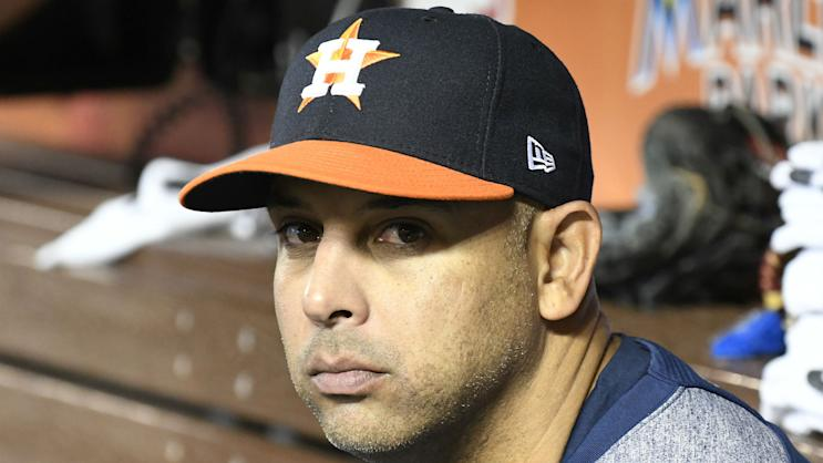 Astros bench coach Alex Cora is reportedly set to be named the Red Sox next manager. (AP)