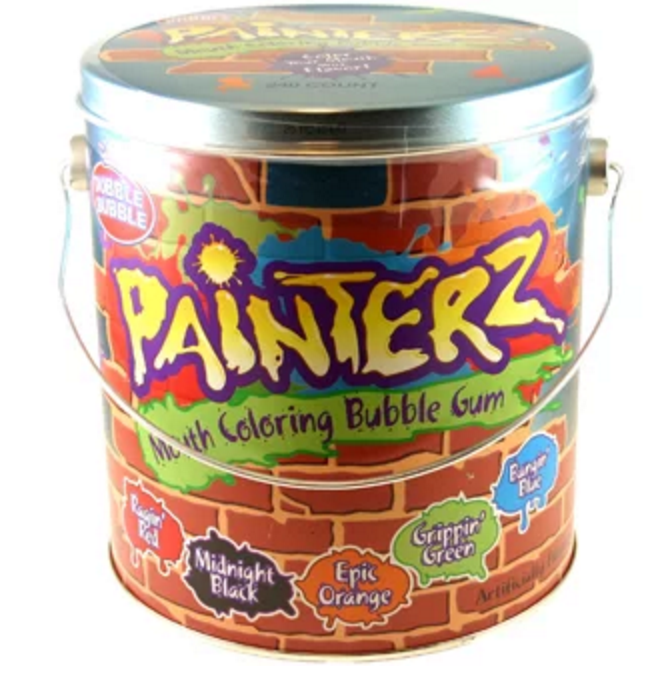 """<p><strong>Dubble Bubble Painterz Mouth Coloring Bubble Gum</strong></p><p>Introduced to the candy market for <a href=""""http://www.popsugar.com/moms/Halloween-Candy-Released-2011-19919973#photo-19921512"""" rel=""""nofollow noopener"""" target=""""_blank"""" data-ylk=""""slk:Halloween in 2011"""" class=""""link rapid-noclick-resp"""">Halloween in 2011</a>, this Dubble Bubble gum came in five different flavors and colors and turned your mouth into the color of the gum you were chewing. </p>"""