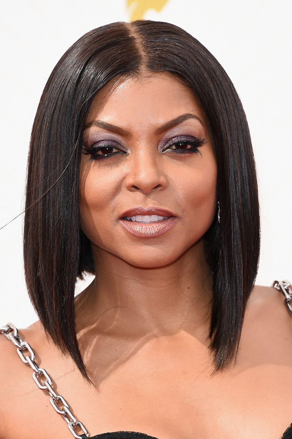 <p>If you're interested in rocking short hair, but don't know where to start, a lob (a.k.a. long bob) is a good first step. You can frame it perfectly to your face like actress <strong>Taraji P. Henson</strong> did and wear it either curly or straight. </p>