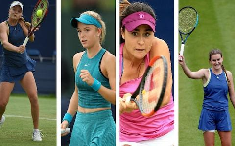 Left to right: Harriet Dart, Katie Swan, Gabriella Taylor and Katy Dunne