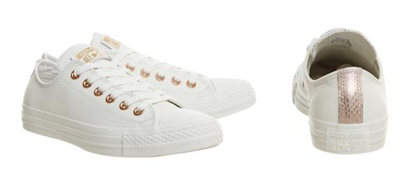 e933780c8e66 View photos. Converse Exclusives  All star Low Leather Trainers Egret Rose  Gold Snake Exclusive