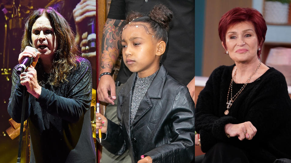 North West apparently loves the music of Black Sabbath. (Kevin Mazur/Marc Piasecki/WireImage/Cliff Lipson/CBS via Getty Images)