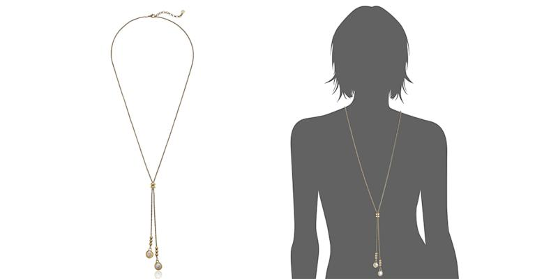 Lucky Brand Pearl Lariat Necklace, Gold (Photo: Amazon)
