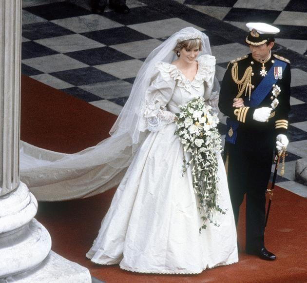 Princess Diana had a second back-up dress on her wedding day to Prince Charles. Photo: Getty Images