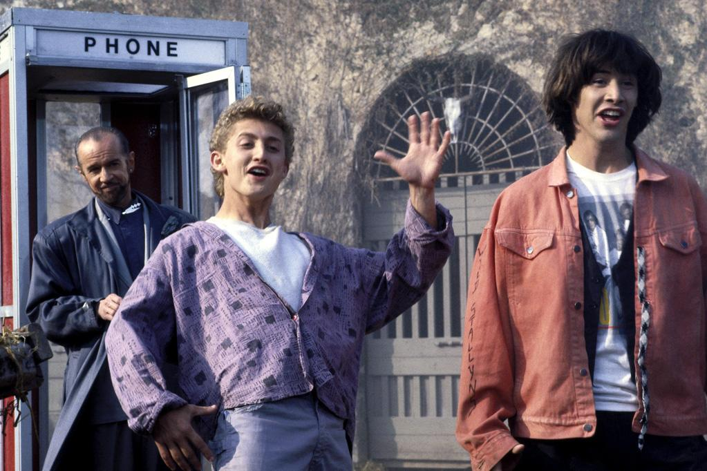 "9 Keanu Reeves's most excellent star vehicle, ""Bill & Ted's Excellent Adventure"" was released on this day. Reeves plays Ted Theodore Logan, one of two high-school slackers who use a phone-booth time machine to bring back some historical figures to star in their history final. Some critics have called it Reeves's best role."