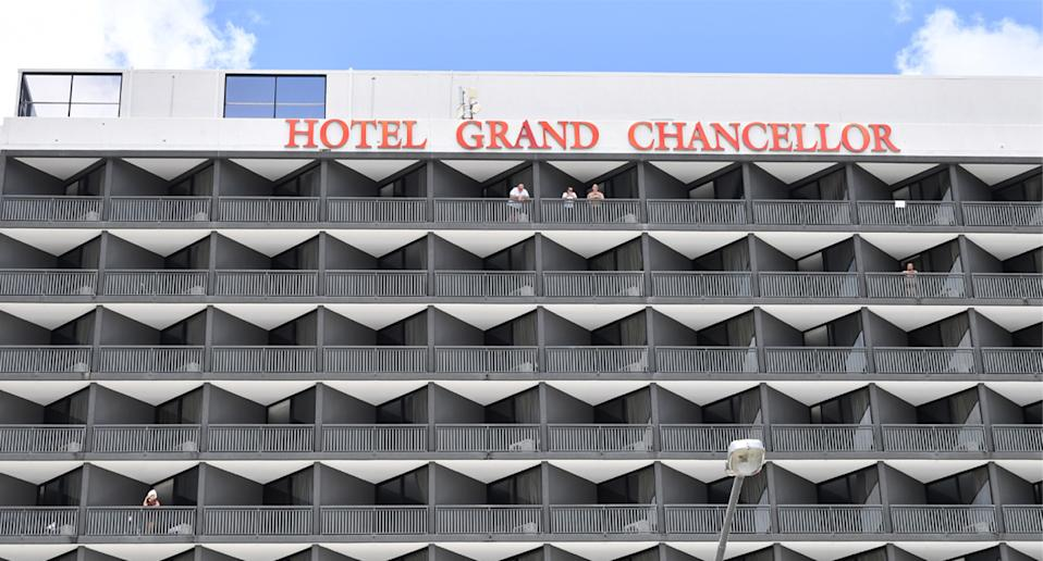 Guests have been moved from the Hotel Grand Chancellor to be begin mandatory quarantine again elsewhere. Source: AAP