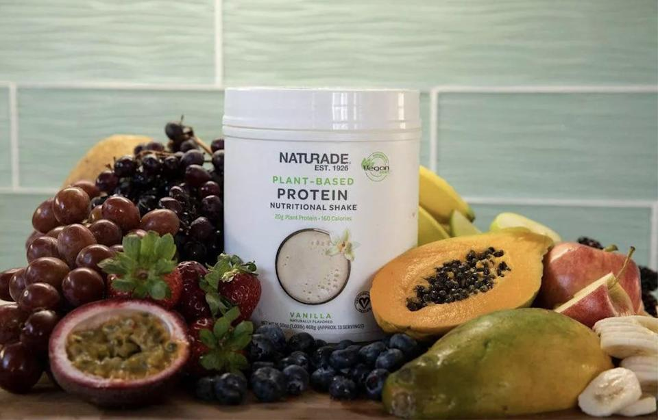 <p>The <span>Naturade Vegan Smart Plant Protein Shake - Vanilla</span> ($18) is the most useful gift for his fitness goals.</p>