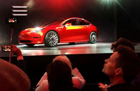 CEO Musk: Tesla hits weekly goal of making 5000 Models 3s