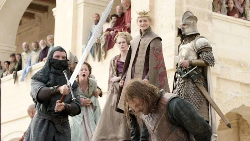Ned Stark was beheaded in the penultimate episode of the first season of 'Game of Thrones'. (Credit: HBO)