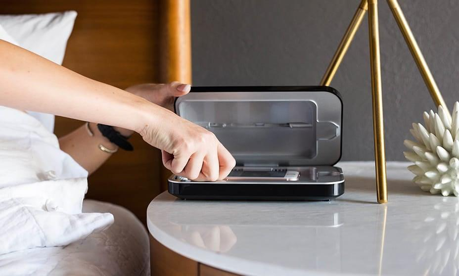 """<p>This bestselling <product href=""""https://www.phonesoap.com/products/phonesoap-3-phone-uv-sanitizer"""" target=""""_blank"""" class=""""ga-track"""" data-ga-category=""""Related"""" data-ga-label=""""https://www.phonesoap.com/products/phonesoap-3-phone-uv-sanitizer"""" data-ga-action=""""In-Line Links"""">PhoneSoap 3 UV Sterilizer </product> ($80) is <a href=""""https://www.popsugar.com/smart-living/Best-UV-Light-Phone-Cleaner-Amazon-45278306"""" class=""""ga-track"""" data-ga-category=""""Related"""" data-ga-label=""""https://www.popsugar.com/smart-living/Best-UV-Light-Phone-Cleaner-Amazon-45278306"""" data-ga-action=""""In-Line Links"""">an editor favorite pick</a>. Plus, is comes in a number of fun color choices.</p>"""