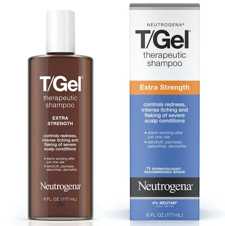 "<p>Dermatologists recommended this Neutrogena therapeutic shampoo for <em>Allure</em> readers dealing with <a href=""https://www.allure.com/gallery/best-shampoos-for-scalp-psoriasis-treatment?mbid=synd_yahoo_rss"" rel=""nofollow noopener"" target=""_blank"" data-ylk=""slk:scalp psoriasis"" class=""link rapid-noclick-resp"">scalp psoriasis</a>. ""This shampoo contains 1 percent coal tar and is formulated with conditioners to reduce scale and symptoms while leaving hair manageable,"" board-certified dermatologist Sejal Shah told us.</p> <p><strong>$8</strong> (<a href=""https://www.amazon.com/Neutrogena-Therapeutic-Anti-Dandruff-Long-Lasting-Seborrheic/dp/B00IXHXT0U"" rel=""nofollow noopener"" target=""_blank"" data-ylk=""slk:Shop Now"" class=""link rapid-noclick-resp"">Shop Now</a>)</p>"