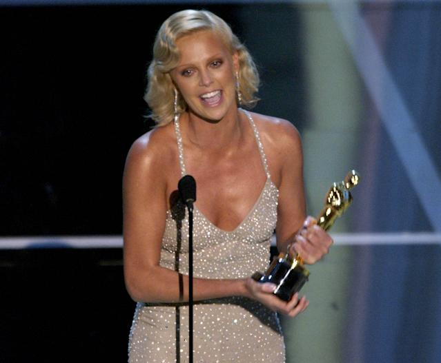 """Charlize Theron won the Oscar for Best Actress for """"Monster"""". (Photo by M. Caulfield/WireImage)"""