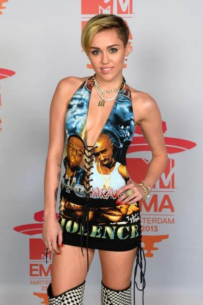 Miley Cyrus is seen during MTV EMA's 2013 at the Ziggo Dome on November 10, 2013 in Amsterdam -- Getty Images