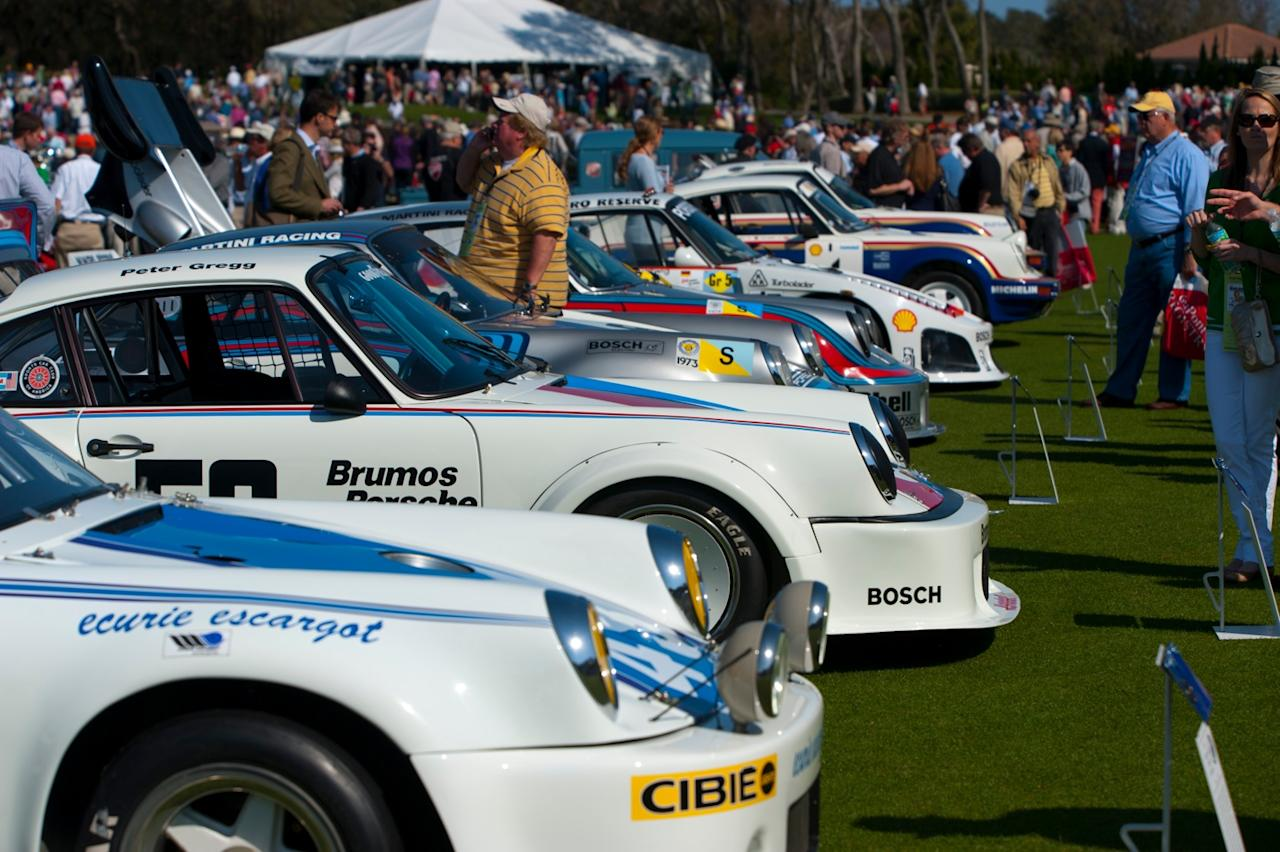 Porsche 911 group at Amelia Island
