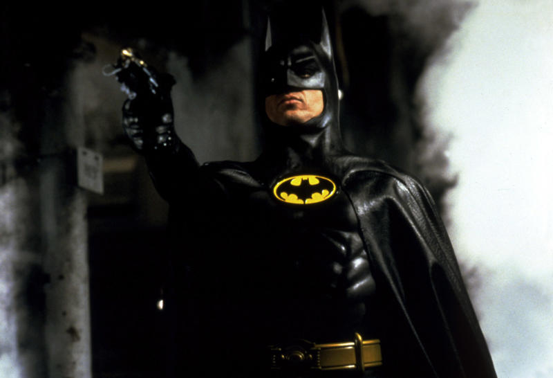 Michael Keaton takes aim as Batman (Photo: Warner Brothers/Courtesy Everett Collection)
