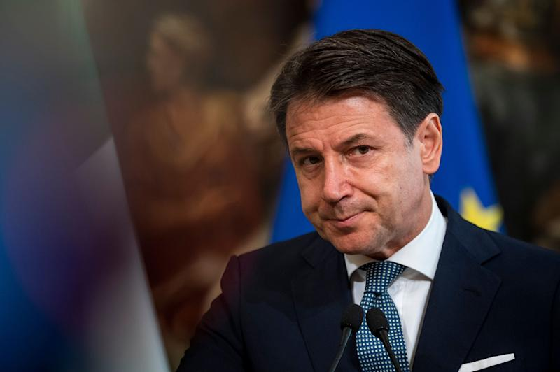 ROME, ITALY - SEPTEMBER 29: Italian Prime Minister Giuseppe Conte and Swiss Confederation President Simonetta Sommaruga (Not in picture) hold a press conference after a meeting at Palazzo Chigi, on September 29, 2020 in Rome, Italy. Italian PM Giuseppe Conte and Swiss Confederation President Simonetta Sommaruga met to discuss the management of the pandemic and also on investments in environmental and climate protection. (Photo by Antonio Masiello/Getty Images) (Photo: Antonio Masiello via Getty Images)