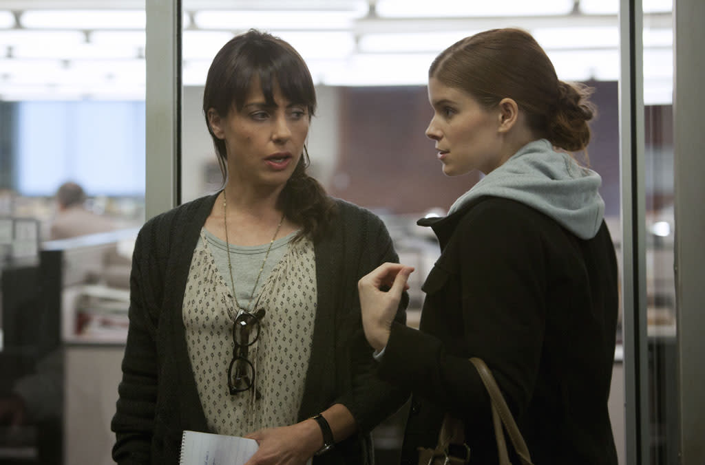 "Constance Zimmer and Kate Mara in the ""House of Cards"" Season 1 episode, ""Chapter 1."""