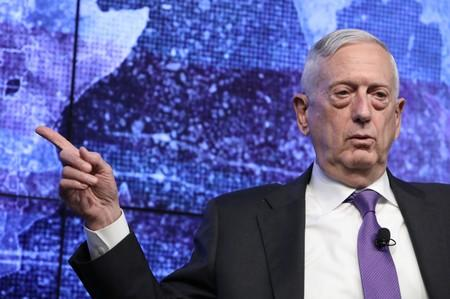 Former U.S. Secretary of Defense General Jim Mattis speaks at a Reuters Newsmaker event in New York