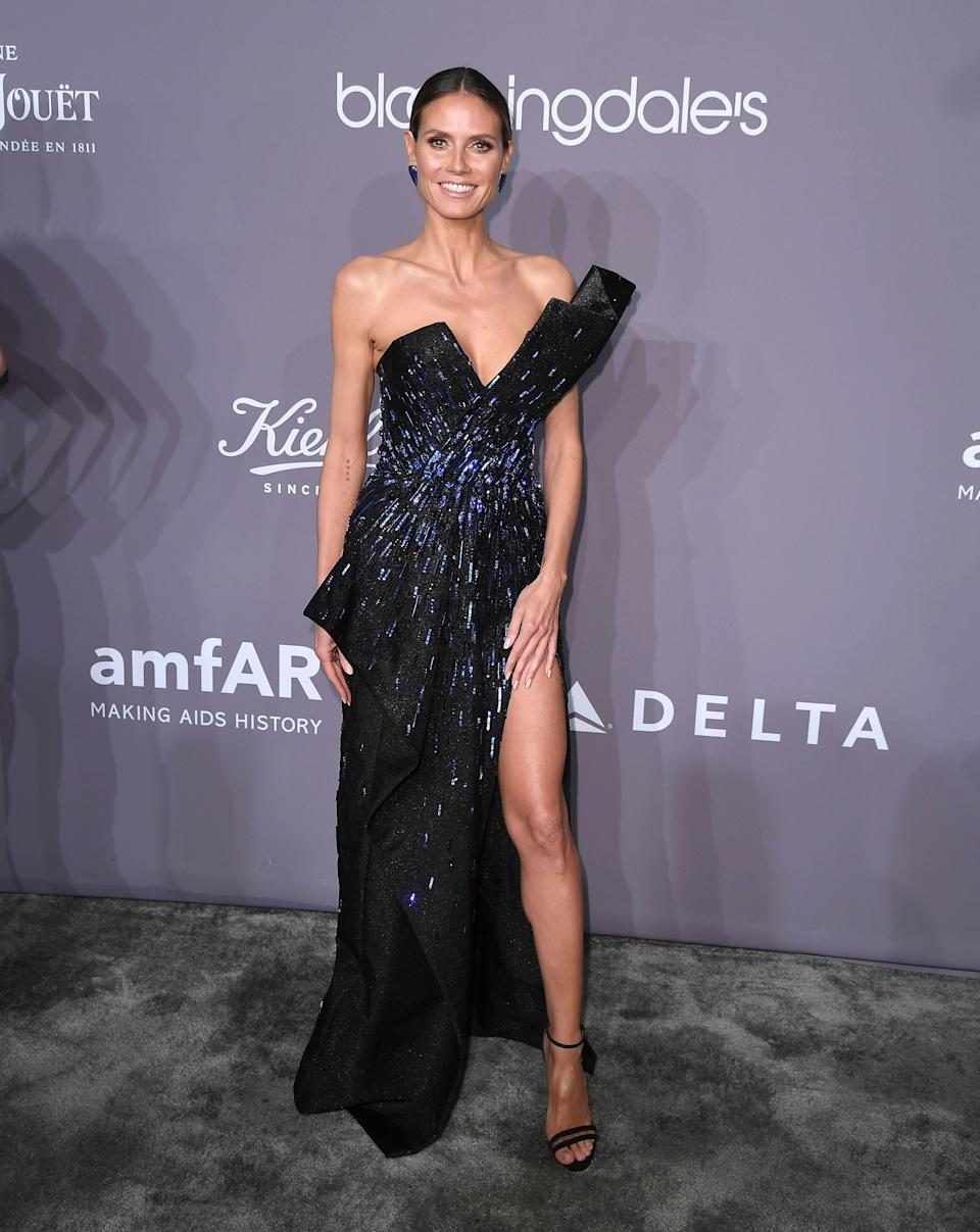 <p>The German supermodel sparkled in a piece by Zuhair Murad. <em>[Photo: Getty]</em> </p>