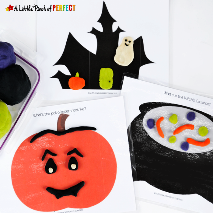 """<p>After printing out these mats, slip them inside page protectors or laminate them so they last. Let kids get creative, using play dough to put the finishing touches on a smiling pumpkin, or create their own magical spells inside a witch's cauldron, among other Halloween scenes.</p><p><em><a href=""""https://alittlepinchofperfect.com/halloween-playdough-mats-free-printable/"""" rel=""""nofollow noopener"""" target=""""_blank"""" data-ylk=""""slk:Get the printable at A Little Pinch of Perfect »"""" class=""""link rapid-noclick-resp"""">Get the printable at A Little Pinch of Perfect »</a></em></p>"""