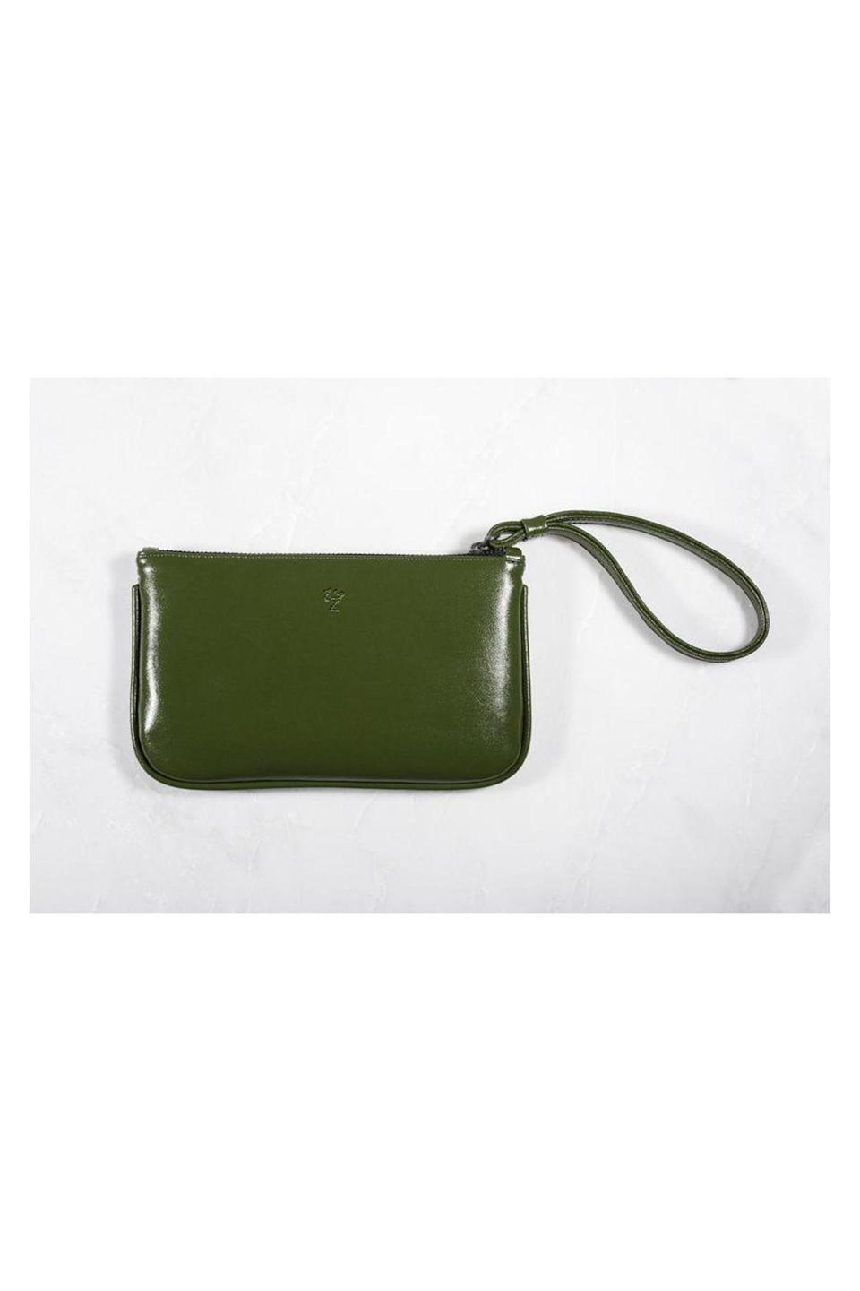"""<p><strong>Cacto</strong></p><p>cacto.green</p><p><strong>$125.00</strong></p><p><a href=""""https://cacto.green/collections/all/products/verde-wrist-wallet"""" rel=""""nofollow noopener"""" target=""""_blank"""" data-ylk=""""slk:Shop Now"""" class=""""link rapid-noclick-resp"""">Shop Now</a></p><p>A pioneer of the cactus leather movement, Cacto creates each bag from organic, cruelty free, and non-toxic cactus leather. They even water the cacti with rainwater, no irrigation system required! </p>"""