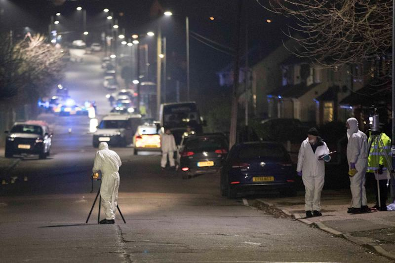 <strong>Forensic officers in Willingdale Road near Debden Park High School, in Loughton, Essex.</strong> (Photo: PA Wire/PA Images)