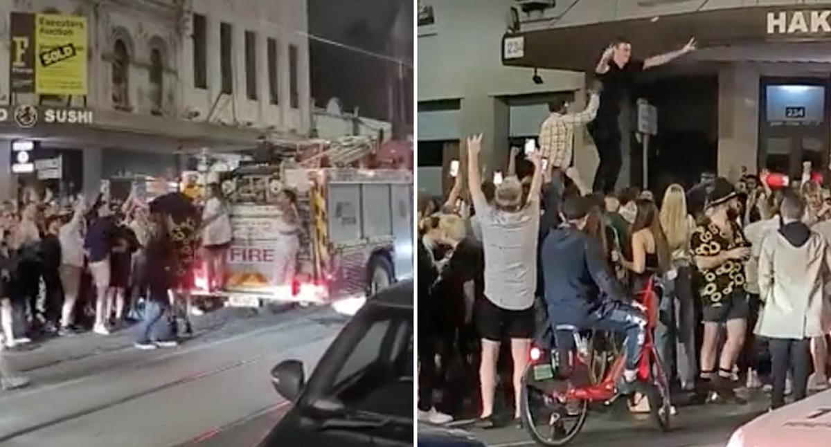 'Melbourne unlocked': Wild scenes as Victorians party in the streets