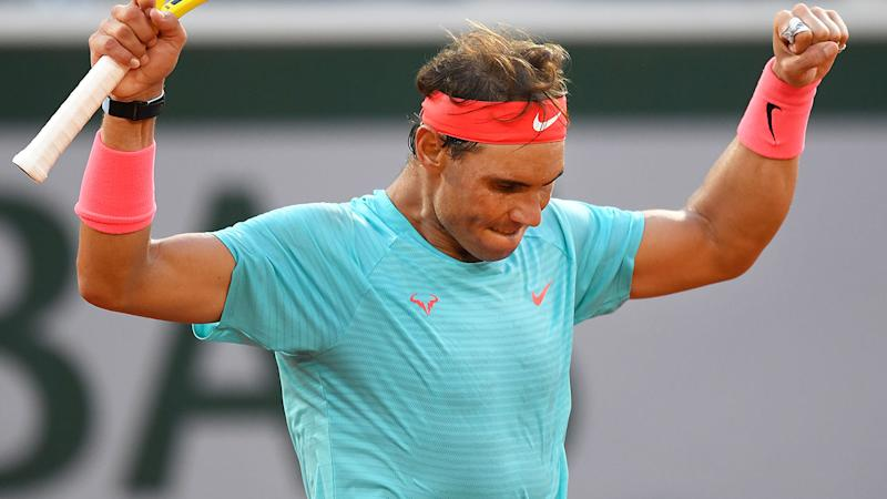 Rafael Nadal, pictured here after his win over Diego Schwartzman at the French Open.
