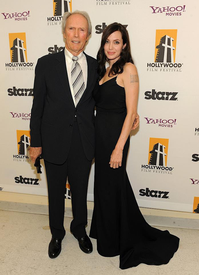 "<a href=""http://movies.yahoo.com/movie/contributor/1800019744"">Clint Eastwood</a> and <a href=""http://movies.yahoo.com/movie/contributor/1800019275"">Angelina Jolie</a> at the 12th Annual Hollywood Film Festival Awards Gala in Beverly Hills - 10/27/2008"